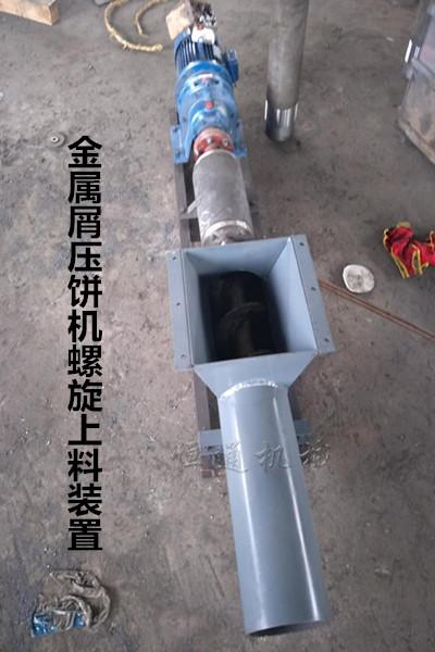 立式钢屑压饼机传送定量给料部分
