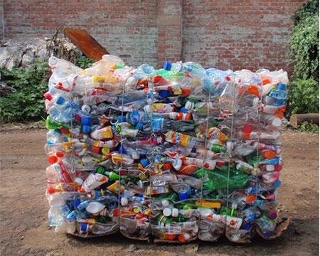 塑料瓶打包后样品